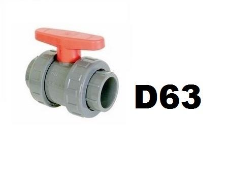 Golyóscsap D63 CH piros CCG-63CH