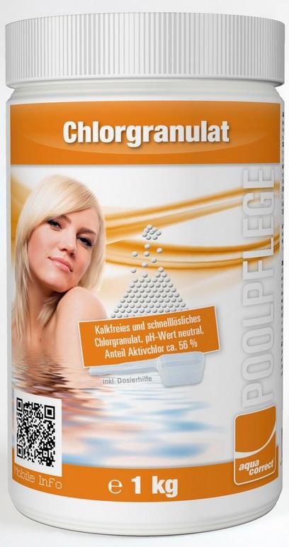 Aquacorrect gyorsan oldodó 56%-os klór granulátum 1kg AS-150011