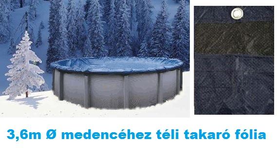 Deluxe téli medence takaró fólia 3,6m átmérőre AS-173001