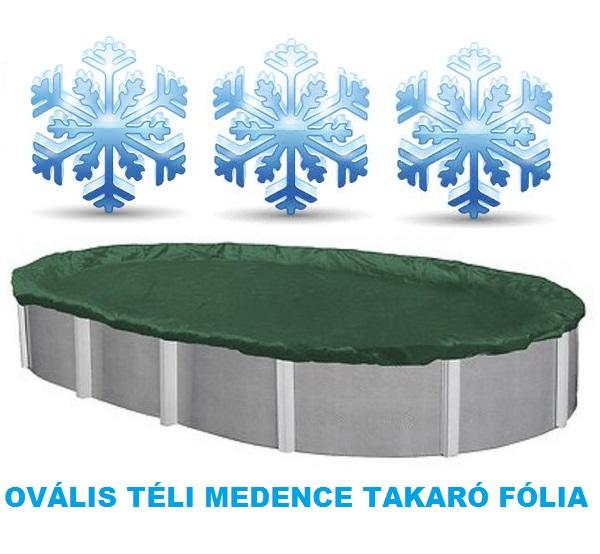 Supreme téli ovális medence takaró fólia 3,6 x 5,4m AS-173004