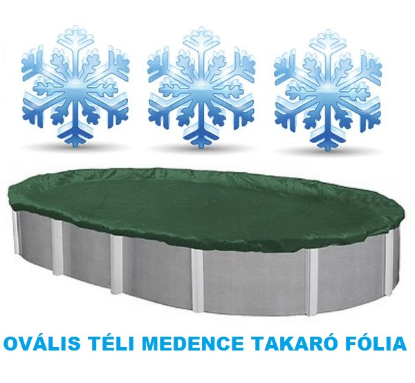 Supreme téli ovális medence takaró fólia 4,5 x 9m AS-173006
