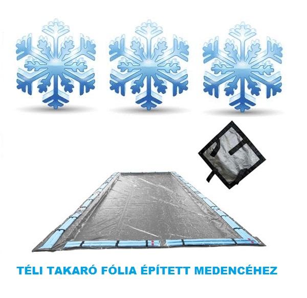 Silverado téli medence takaró fólia 5,8m x 9,8m (4m x 8m mérethez) AS-173108