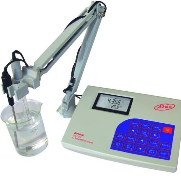 Adwa professzionális laboratóriumi pH/ORP/T-mérő műszer AD 1000