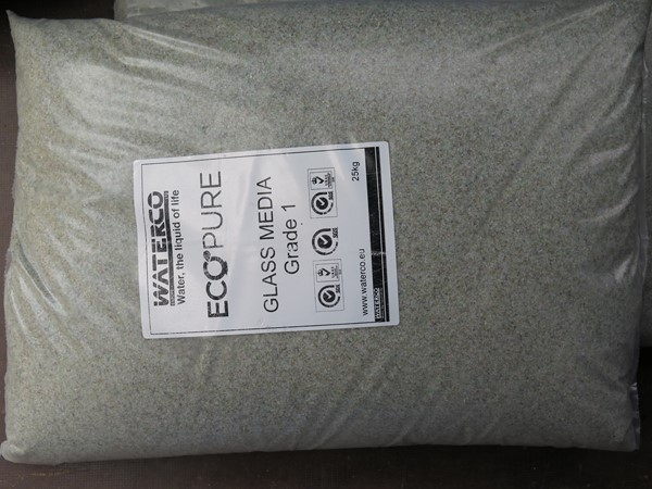 EcoPure Waterco szűrőüveg 25kg 0,5-1mm