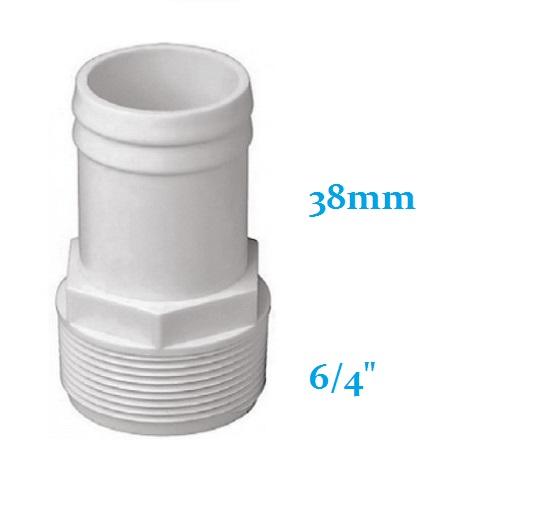 Porszívótömlő csatlakozó D38mm x 6/4 AS-140038