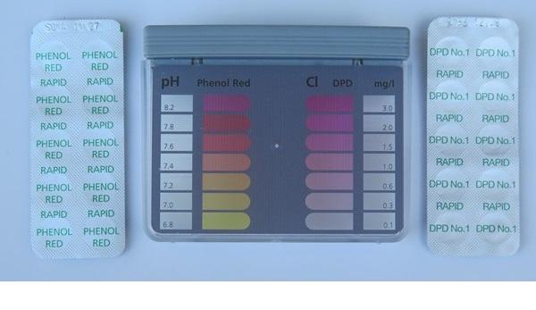 Tablettás vízelemző készlet pH/Cl méréshez Steinbach 079000