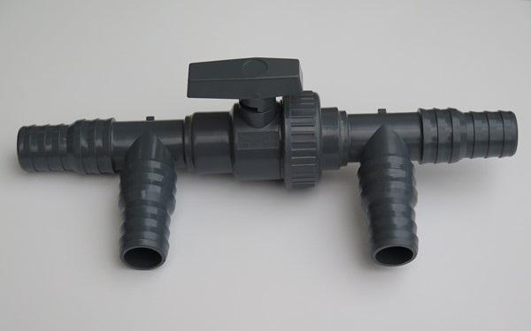 By-Pass készlet szolárfűtéshez D32/D38 (golyóscsap és PVC elemek)