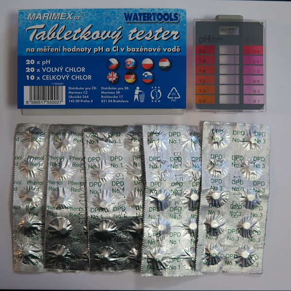 Tablettás vízelemző készlet pH/Cl méréshez Watertools 3MAR0066