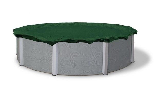 Kör alakú medence takaró fólia 550cm átmérőre zöld SUPREME