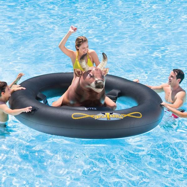 Intex InflataBULL felfújható bika rodeó medence játék 56280