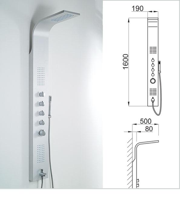 Wellis Mariner Silver zuhanypanel 19x160cm