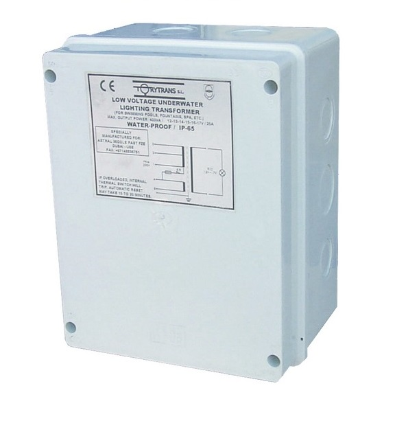 AstralPool AC 12-17V 600VA IP65 biztonsági transformátor AP-35386