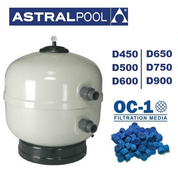 AstralPool Aster OC-1 kompatiblis szűrőtartály oldal szelepes