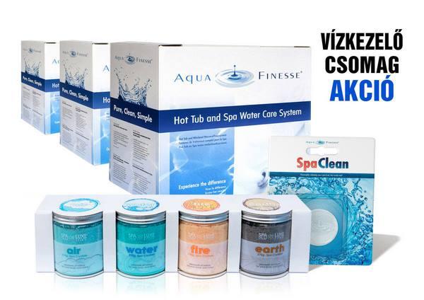 AquaFinesse SPA 3 doboz 1 éves adag + ajándék SpaDeluxe, SpaClean, Absorb-it