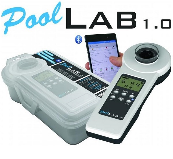 PoolLab 1.0 fotométer vízelemzéshez, 10 féle érték méréséhez