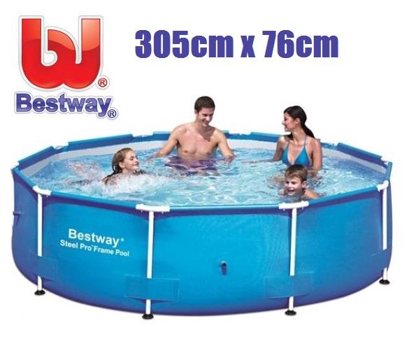 Bestway 305x76cm fémvázas medencetest BW 56677