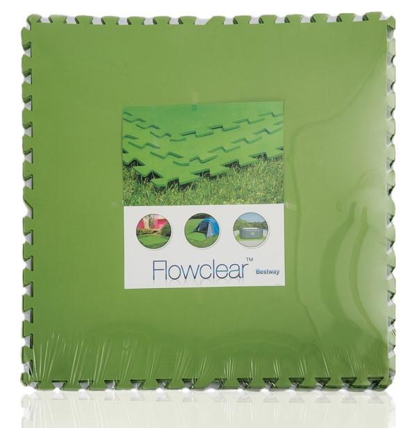 Bestway 81x81cm zöld PUZZLE szivacs 4mm vastag 5,2m2 8db/cs 58265
