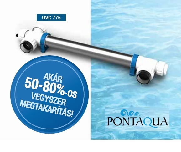 Pontaqua UV-C 75 fertőtlenítő 60m3 medence méretig UVC 775