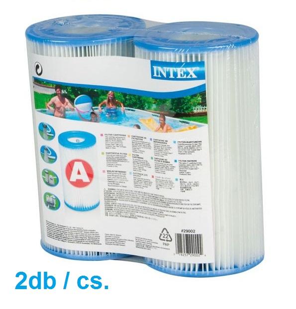Intex papír szűrőbetét A típusú 29002 (2db/cs) KETTES CSOMAGOLÁSÚ