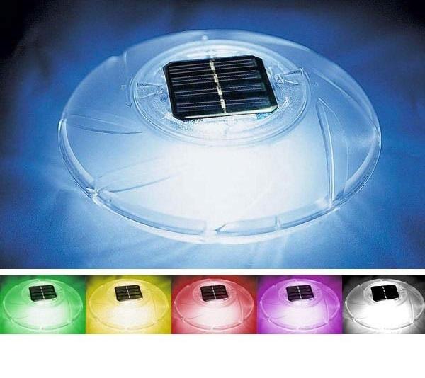 Bestway vízen úszó RGB ledes SOLAR medence világítás 58111