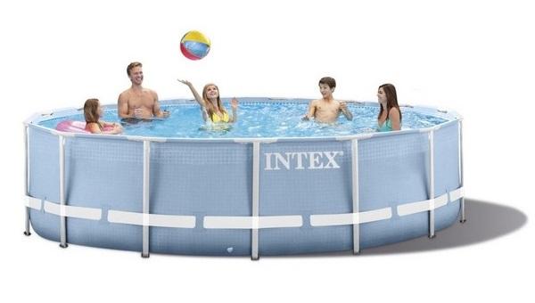Intex 366x76cm fémvázas medencetest Prism Frame 26710