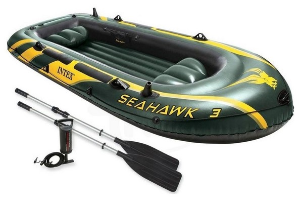 Intex 68380 Seahawk 3 felfújható 3 személyes gumicsónak szett 295x137x43cm