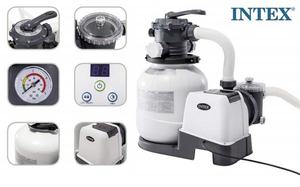 Intex homokszűrős vízforgató 6m3/h 220W D300 26646