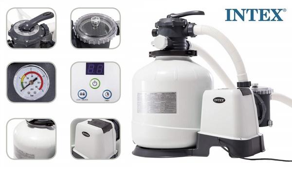 Intex homokszűrős vízforgató 9,2m3/h 550W D400 26652