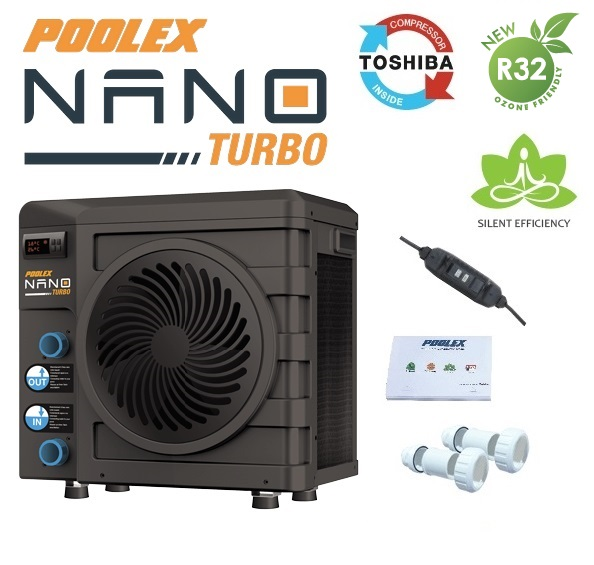 Basic Poolex NANO TURBO hőszivattyú 3KW HSZ 625