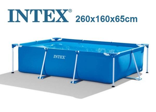 Intex 260x160x65cm fémvázas medencetest 28271