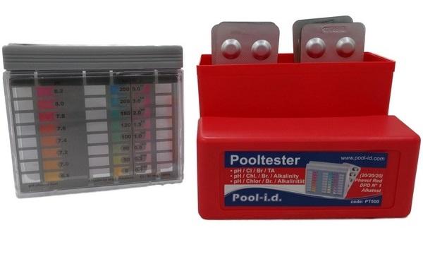 Pooltester PT 500 pH/Br/Cl/Ta tablettás vízellemző teszer AS-147201