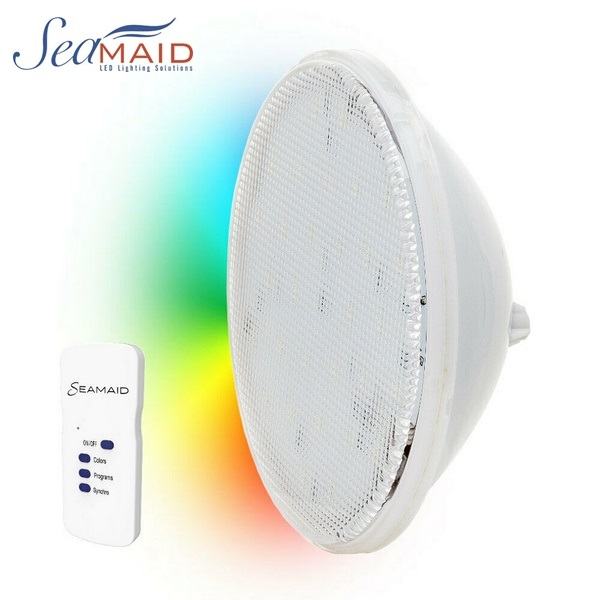 SeaMAID LEDINPOOL PAR 56 RGB ledes izzó távirányítóval 16W 510lm 90LED REF 502