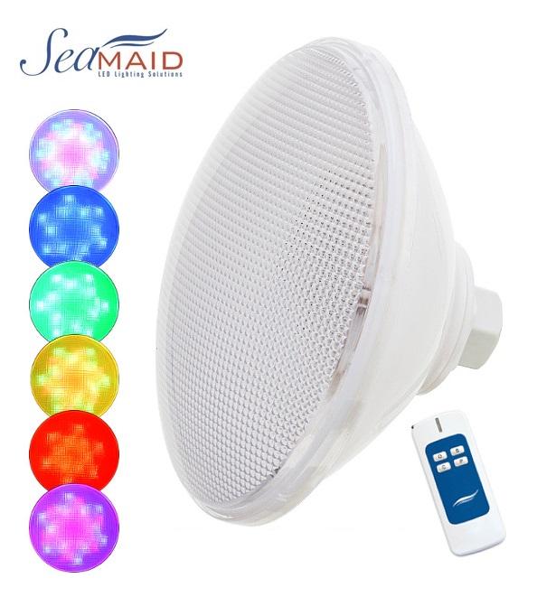 SeaMAID Ecoproof PAR 56 RGB ledes izzó távirányítóval 16W 510lm 90LED REF 504