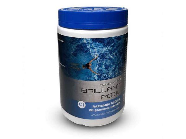 BrillantPool gyorsan oldódó 20g klórtabletta 1kg UVC-301