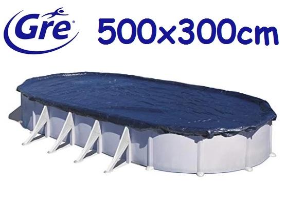 Gre ovális 500x300cm medencére téli takaró fólia CIPROV501
