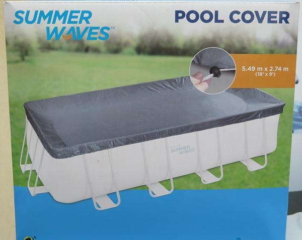 Polygroup 549x274cm szögletes fémvázas medence takaró fólia