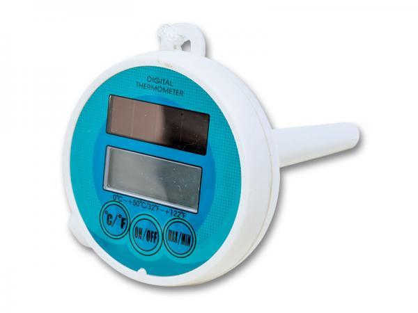 Digitális úszó hőmérő, napelemes kiegészítéssel P1512